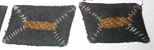 Death head collar tabs: good, bad or just ugly?