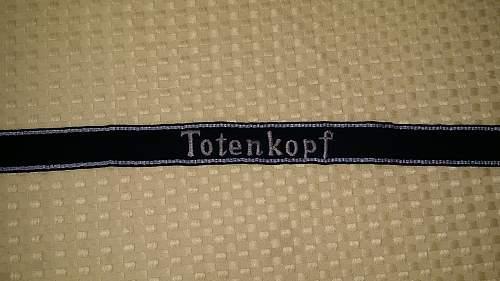 SS TK cuff title Totenkopf