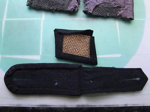 Latvian SS Collar Tabs Set on Collar and Other Items - Original/Fake?