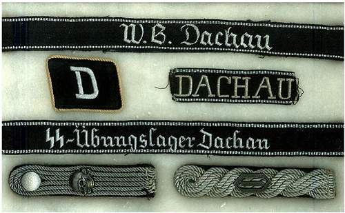 One single D-letter collar tab