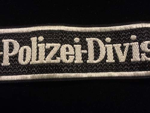 SS Polizei Division cufftitle