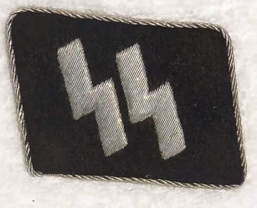 Bullion SS officer's runic tab
