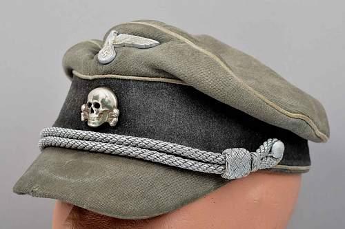 SS field cap with cloth peak