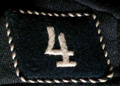 Lousy Allgemeine SS insignia and tunic.