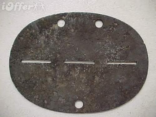 Legitimate Waffen SS concentration camp guard dog tag?