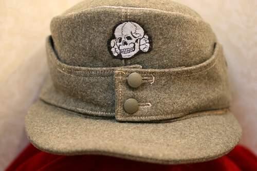 SS M1943 Einheitsfeldmutze Cap. Is it real?