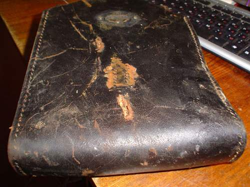SS Totenkopf marked early MP 38 leather pouch.
