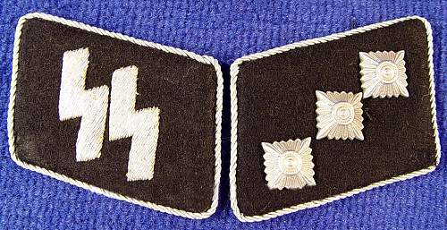 Some help again please!! NAZI GERMAN WW2 WAFFEN SS UNTERSTURMFUHRER COLLAR TABS