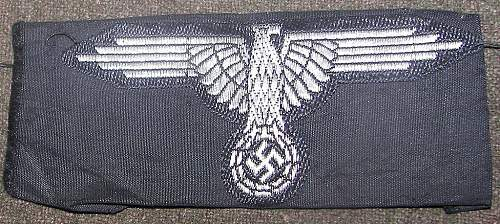 SS Officer's Flatwire Sleeve Eagle