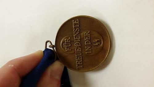 Type 1 SS 8-Year Service Medal (Dienstauszeichnung)