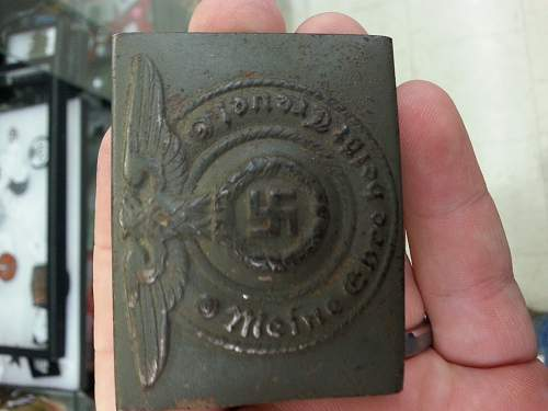 SS Enlisted Buckle, Fake?