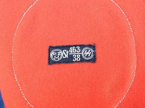 Delich Treasures   BeVo tags for SS insignia