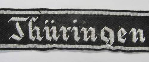 Thuringen cuff title, hand embroidered?