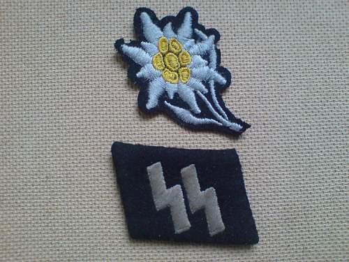 SS Mountain Troops cap edelweiss?