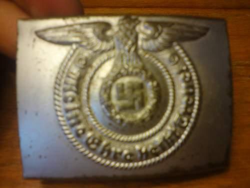 SS beltbuckle+ cap insigna
