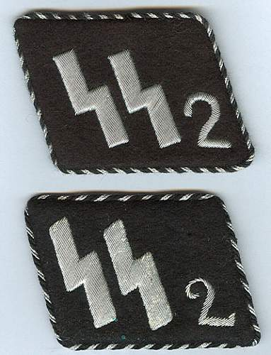 SS officer collar tabs - ask for help