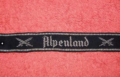 SS Alpenland armelband
