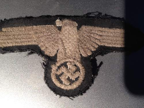 SS officer eagle  and NCO