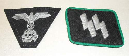 SS Panzer Collar Tab