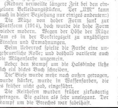 SS caps in a brauner Lader, Bielefeld., Militaereffektens shop  ca. 193X.