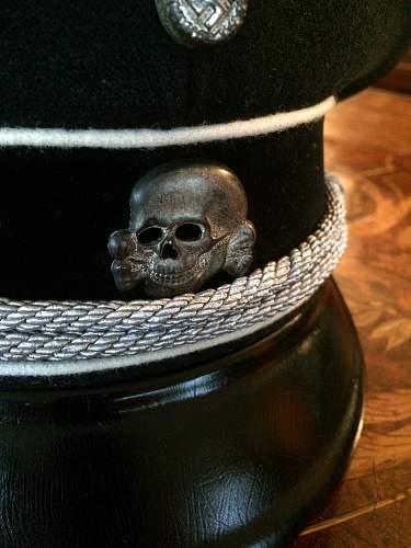 black SS officer's cap,  special model, ca, 1936-7