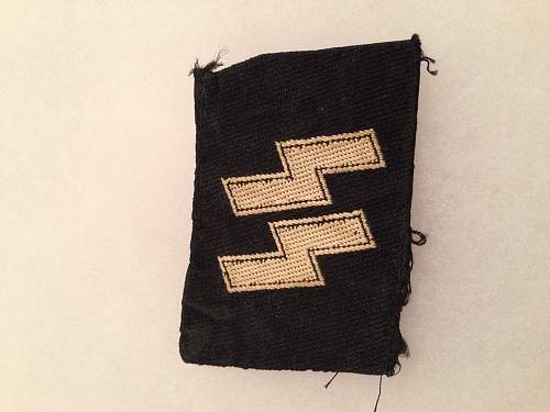 Large group of SS cloth insignia