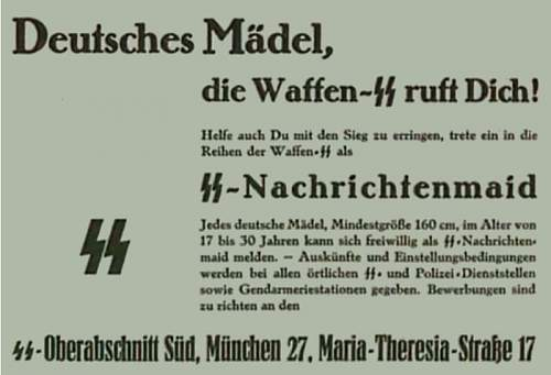 Click image for larger version.  Name:Reichsschule SS - zie verder HELFERIN - Uniforms.jpg Views:145 Size:44.4 KB ID:868057