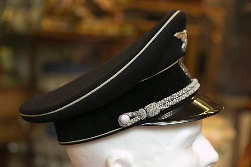 SS Black Officer's Visor for review