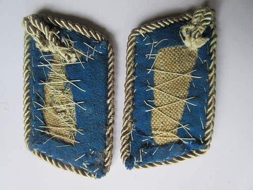 Very Early Standartenfuhrer Collar Tabs