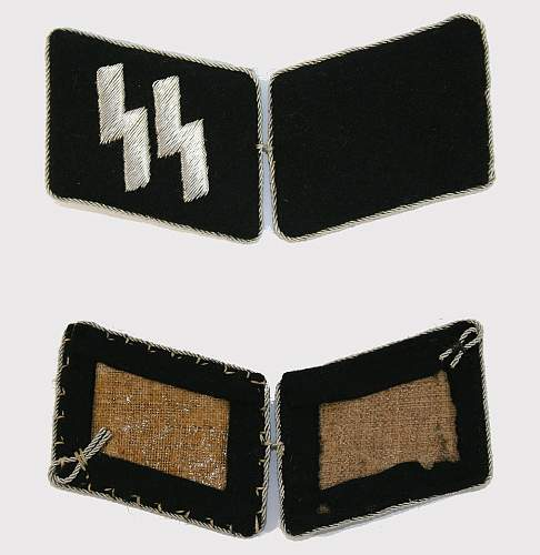 Authenticity of SS Officer Collar Tabs