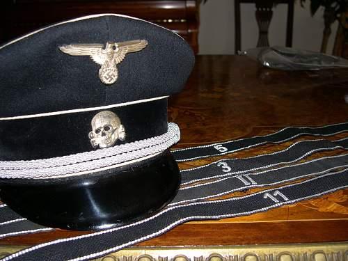 SS officer's Sonderanfertigung  black cap ca 1935/6.