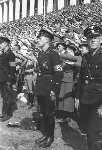 black SS uniform in wear