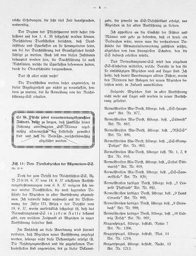 Click image for larger version.  Name:aufgebrauchte Dienstabz in alter Ausfhrg [SS-Befehlsblatt 25.02.1938].jpg Views:9 Size:212.7 KB ID:917066