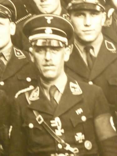 Allgemeine SS Sturmband mit silberner Stickerei