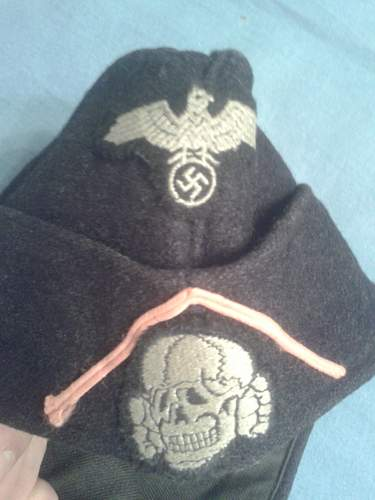 SS PANZER Overseas cap for review