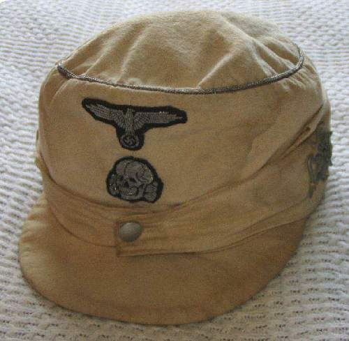German WWII SS Mountain Officers M-43 Cap