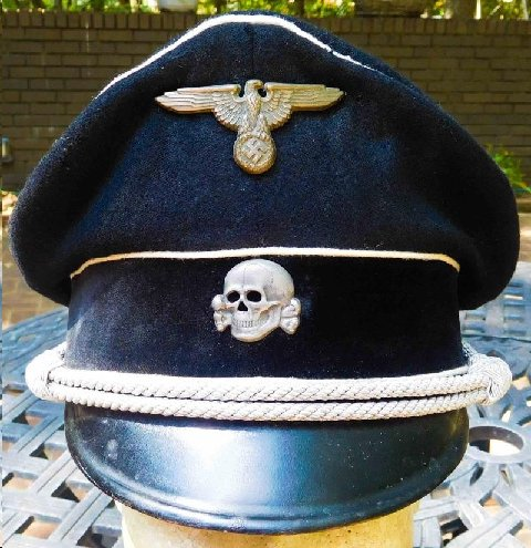 Early SS cap with leather visor
