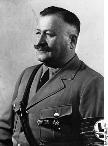 Chamberlain, Wagner, v. Epp, C. Weber and SS regalia ca. 1938