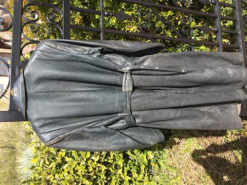 Leather overcoat. SS?