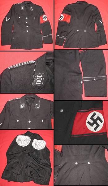 Backs of the black SS tunics.