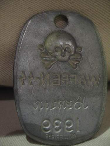 Waffen SS tag Berlin 1939: Authentic piece?