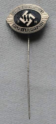 SS Sponsor's Stickpin