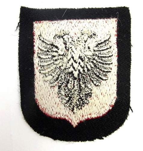 Volunteer SS Albanian Cloth Badge