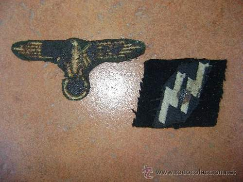 SS Sleeve eagle and runic collar tab