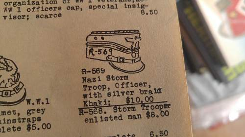 Retail of militaria, ca. 1953-8 in Culver City, California.