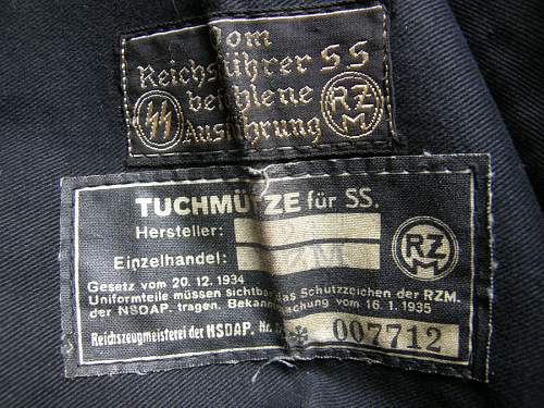 Fake RZM SS tag in white cap