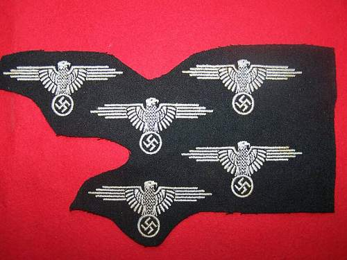 Some of the un-cut SS sleeve eagles