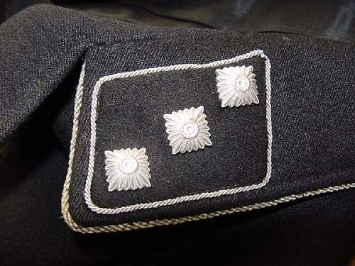 SS officers plain collar tab?