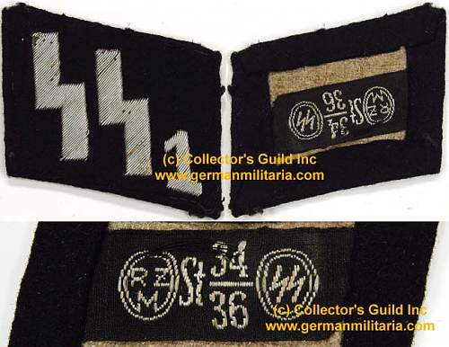 SS, SS1 and SS4 collar tabs - Real?