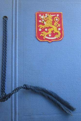 Could this be a WAFFEN-SS FINNISH VOLUNTEER'S SLEEVE SHIELD?